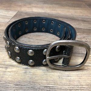 Genuine leather studded belt